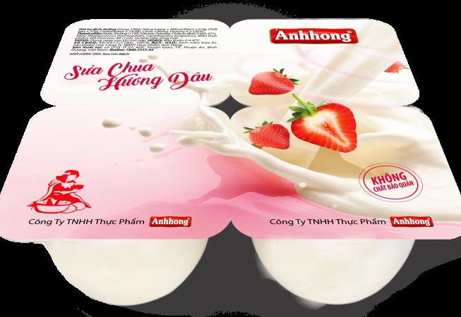 Sữa chua dâu Ánh Hồng giúp cơ thể bổ sung các dưỡng chất thiết yếu như đạm, canxi, các vitamin & khoáng chất. Sản phẩm được lên men hoàn toàn tự nhiên, không chứa chất bảo quản, là thực phẩm lý tưởng cho bé và gia đình.